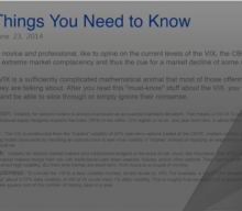 Kevin Cook's Defining of VIX and Trading VIX Complex