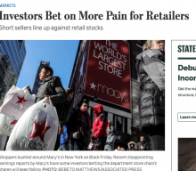 Investors Bet on More Pain for Retailers